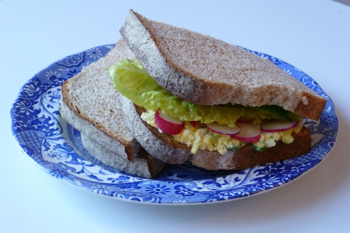 Egg Mayonnaise and Salad Sandwich