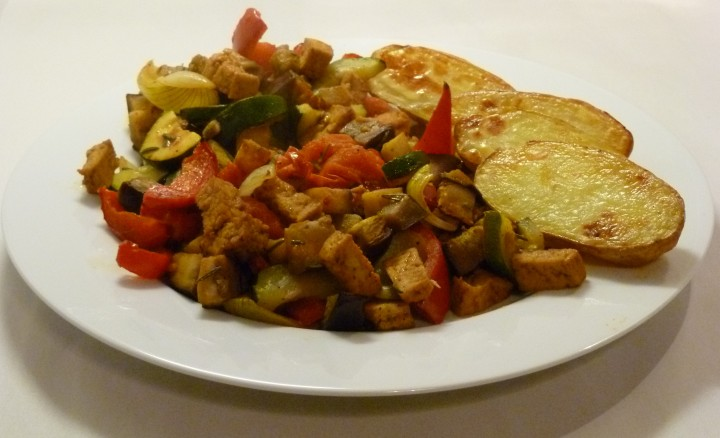 Roasted Vegetables with Tofu
