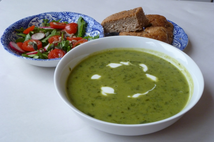 Pea and Spinach Soup