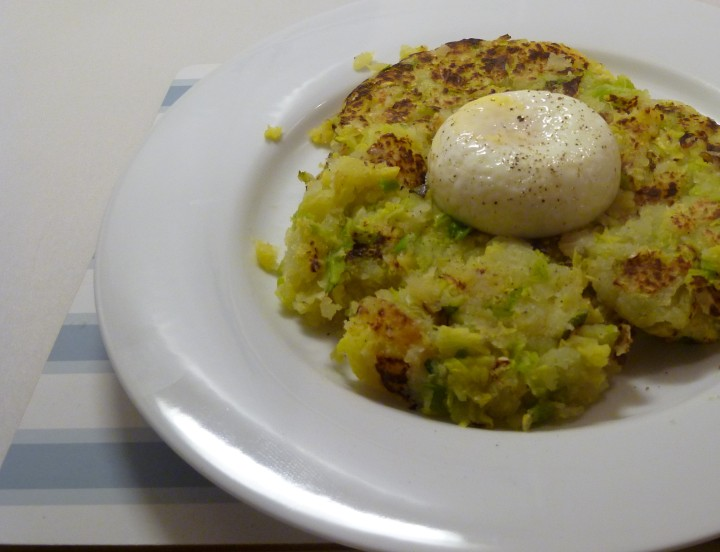 Poached Egg Bubble and Squeak