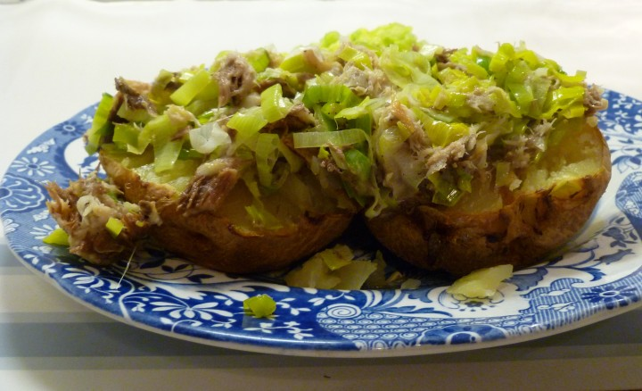Leek and Mackerel Jacket Potato